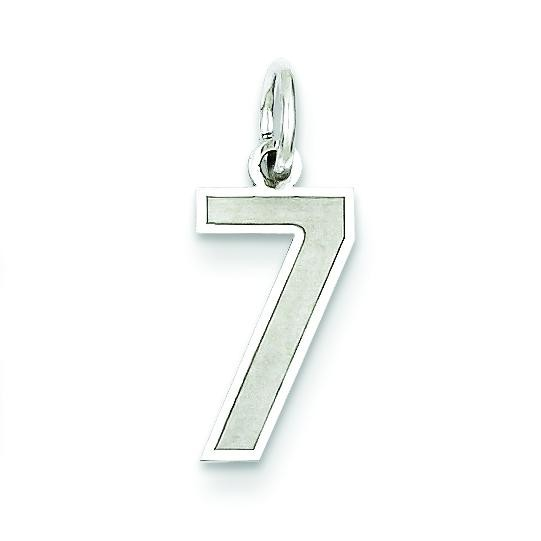 Small Number 7 in Sterling Silver
