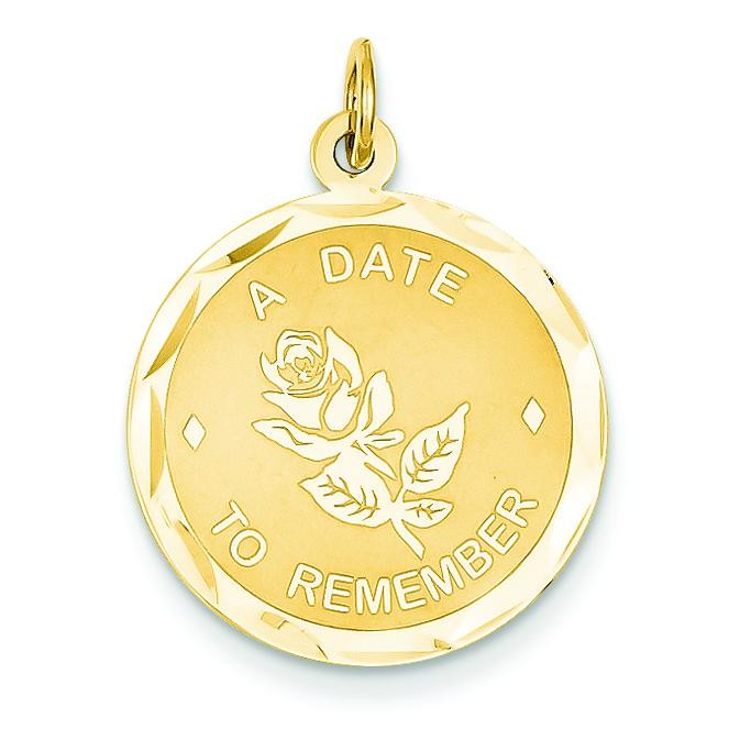 Date To Remember Charm in 14k Yellow Gold
