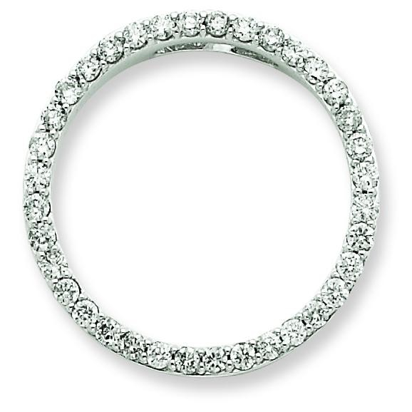 Diamond Circle Pendant in 14k Yellow Gold