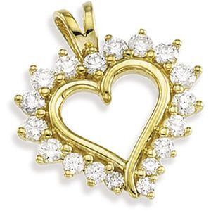 Diamond Heart Pendant in 14k Yellow Gold (0.5 Ct. tw.) (0.5 Ct. tw.)