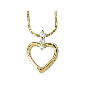 Heart Pendant Snake Chain in 14k Yellow Gold