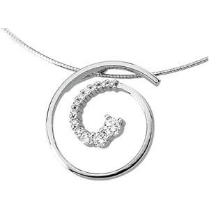 Journey Diamond Pendant in 14k White Gold