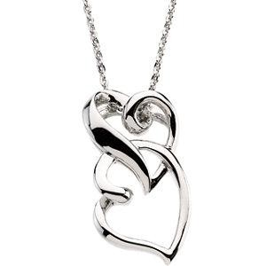 Friendship Pendant Chain in Sterling Silver