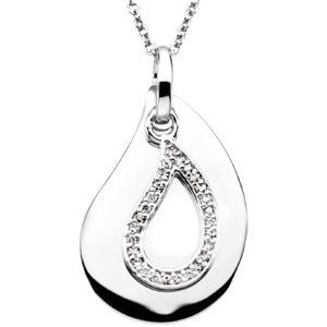 A Tear To Treasure Pendant Chain in Sterling Silver