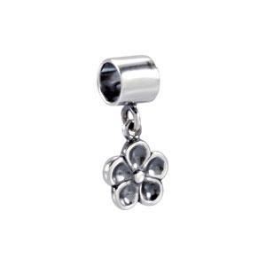 Flower Charm in Sterling Silver