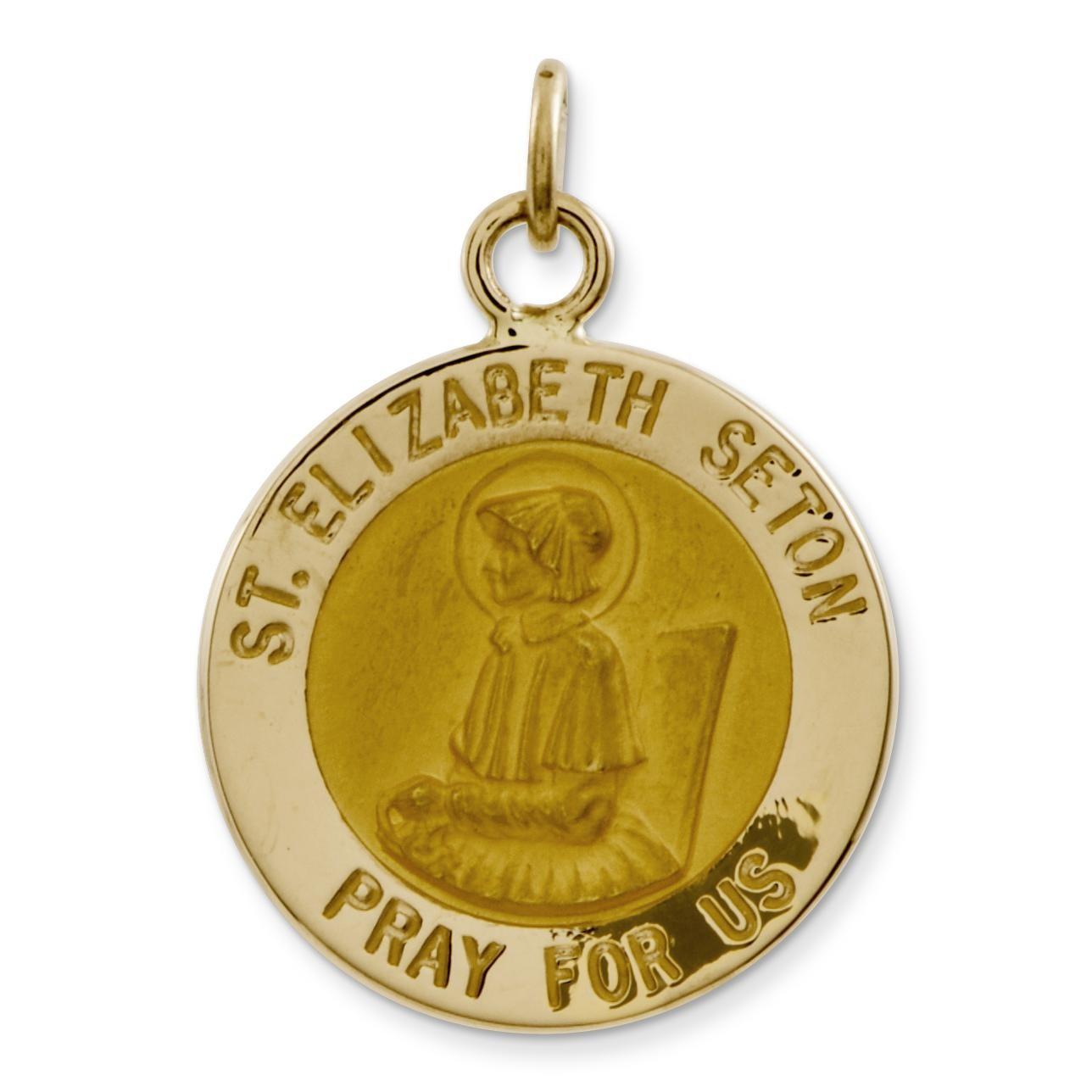 St Elizabeth Seton Medal in 14k Yellow Gold