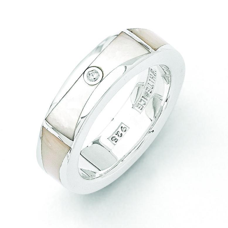 0.01ct Diamond MOP Ring