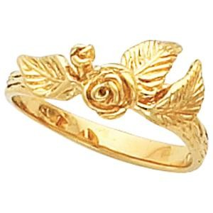 Floral Fashion Ring in 14k Yellow Gold