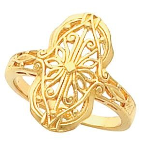 Filigree Vintage Ring in 14k Yellow Gold