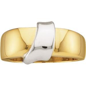 Gold Fashion Ring in 14k Two-tone Gold