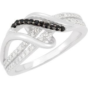 Genuine Spinel Diamond Ring in Sterling Silver (0.25 Ct. tw.) (0.25 Ct. tw.)