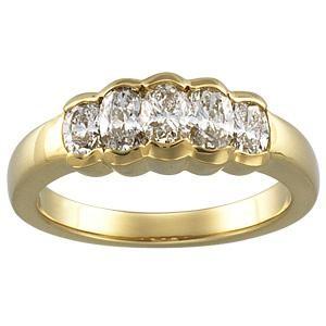 Five Stone Diamond Anniversary Rings (1.16 Ct. tw.) (1.16 Ct. tw.)