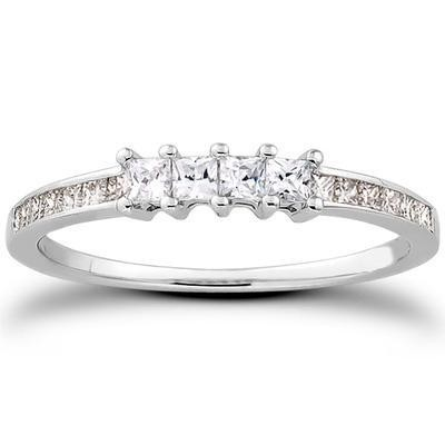 Designer Matching Diamond Engagement Band in 14K White Gold