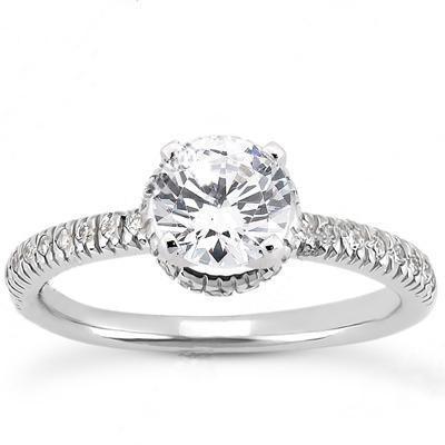 Round Diamond Cut Wedding Ring in 14K Yellow Gold