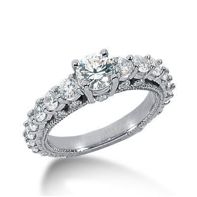 Elegant Round Wedding Ring in 14K Yellow Gold
