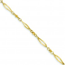 Diamond Cut Anklet in 14k Yellow Gold