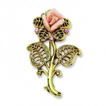 Porcelain Crystal Pin in Fashion