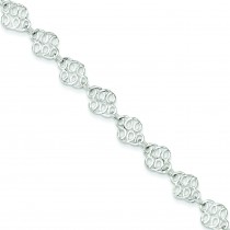 Fancy Anklet in Sterling Silver