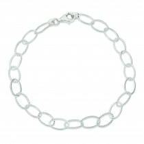 Fancy Link Anklet in Sterling Silver