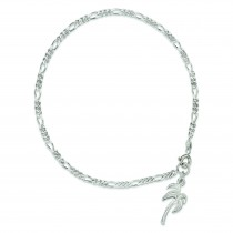 Palm Tree Anklet in Sterling Silver