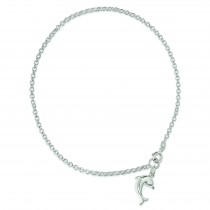 Dolphin Anklet in Sterling Silver