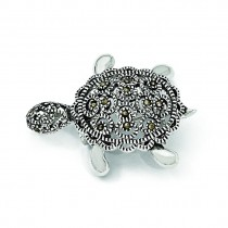 Turtle Pin in Sterling Silver