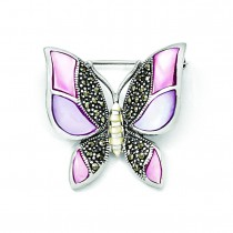 Butterfly Pin in Sterling Silver