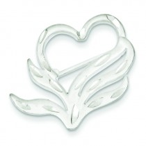 Heart Pin in Sterling Silver