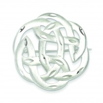 Celtic Knot Pin in Sterling Silver