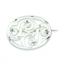 Scroll Pin in Sterling Silver