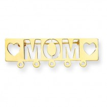 Mom Pin in 14k Yellow Gold