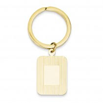 Rectangle Disc Key Ring