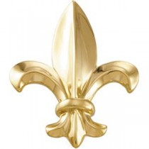 Fleur De Lis Brooch in 14k Yellow Gold