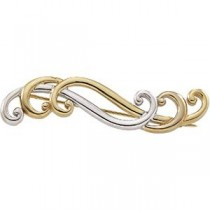 Fashion Brooch in 14k Two-tone Gold
