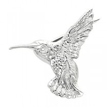 Hummingbird Brooch in 14k White Gold