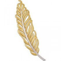 Feather Brooch in 14k Two-tone Gold