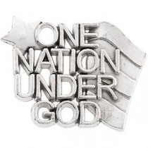 One Nation Under God Lapel Pin in Sterling Silver