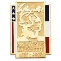 Marquis De La Fayette Commemorative Lapel Pin in