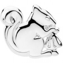 Trusting Squirrel Brooch in Sterling Silver
