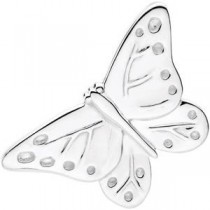 Babysitter Butterfly Brooch in Sterling Silver