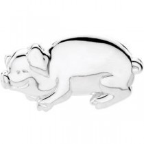 Bonnie The Pig Brooch in Sterling Silver