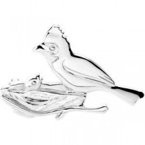 Caring Cardinal Brooch in Sterling Silver