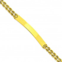 Two Strand Rope ID Bracelet in 14k Yellow Gold