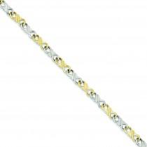 Solid Fancy Bracelet in 10k Yellow Gold