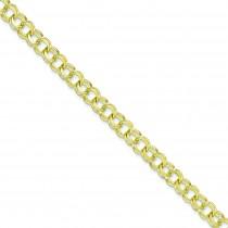 Double Link Charm Bracelet in 10k Yellow Gold