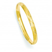 Florentine Engraved Baby Bangle Bracelet in 14k Yellow Gold