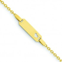 Child Heart ID Bracelet in 14k Yellow Gold