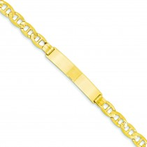 Anchor ID Bracelet in 14k Yellow Gold