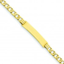 Curb ID Bracelet in 14k Yellow Gold