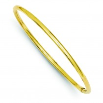 Round Tube Bangle in 14k Yellow Gold